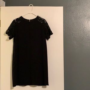 Gianni Bini Black Mini Dress with Lace Sleeves